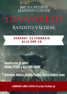 """Presentazione del libro: """"Gianavello, bandito valdese"""" @ libreria Ubik"""